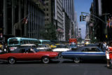 New York, Manhattan, traffic jam on Fifth Avenue