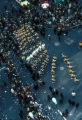 New York, Manhattan, view of parade formations from above