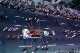 New York, Manhattan, view from above of Columbus Day parade