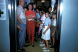 Washington, people in elevator at Washington Monument