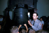 Philadelphia, park ranger showing children historic Liberty Bell