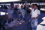 Kimberley, diamond miners cooking dinner