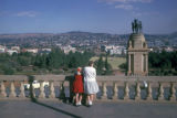 Pretoria, view of Delville Wood World War I memorial from Union Buildings