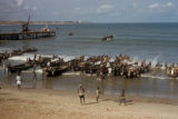 Accra, surfboats unloading cargo on beach