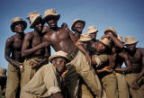 Accra, soldiers posing for group portrait
