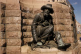 Pretoria, Church Square, sculpture of Boer Voortrekker on Paul Kruger Monument