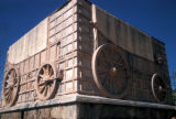 Pretoria, Voortrekker Monument, sculpture of ox wagon