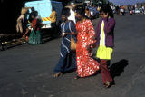 Durban, Indian women on busy street