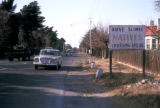 "Johannesburg, roadside sign warning against ""natives"""