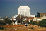 Johannesburg, demolished site with new building in background