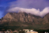Cape Town, clouds coming over Table Mountain
