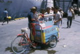 Bogota, street vendor selling flavored shaved ice