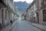 Bogota, view down narrow side street