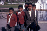 Cape Town, school boys posing