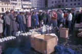 Cape Town, shoppers at outdoor market