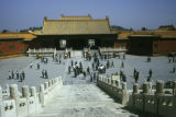 Beijing, panoramic view  of Forbidden City (Palace Museum)