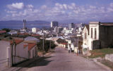 Cape Town, view of city from hillside Cape Malay Quarter