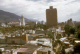 Caracas, National Pantheon visible behind slums