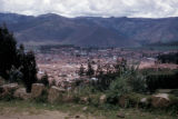 Cuzco, panoramic view of valley