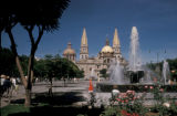 Guadalajara, view of Guadalajara Cathedral and surrounding plaza