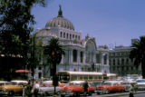 Mexico City, street scene near Palace of Fine Arts