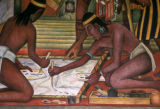 Mexico City, portion of Diego Rivera's mural in the National Palace