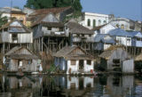 Manaus, stilt houses along river