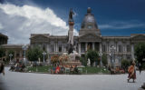 La Paz, Legislative Palace (Palacio Legislativo) and Plaza de Murillo with monument to Pedro...