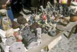 Chichicastenango, masks and pottery at outdoor market