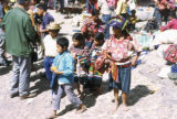Chichicastenango, children at outdoor market