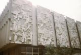 Guatemala City, bas-relief sculpture on National Bank