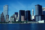 New York, Manhattan, downtown skyline from Upper Bay