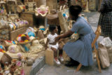 Nassau, woman and child at Straw Market
