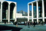 New York, Manhattan, street scene outside Lincoln Center