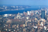 New York, Manhattan, view of George Washington Bridge over Hudson River from World Trade Center