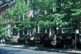 New York, Manhattan, townhouses on Washington Square