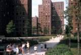 New York, Manhattan, public housing development