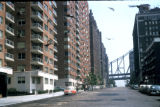 New York, Manhattan, residential street in Sutton Place neighborhood