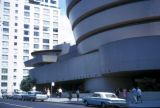 New York, Manhattan, entrance to Guggenheim Museum