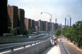 New York, Manhattan, FDR Drive and Lillian Wald housing development