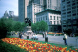 New York, Manhattan, Central Park with statue of William Tecumseh Sherman