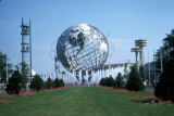New York, Queens, view of Unisphere sculpture at 1964 New York World's Fair