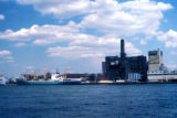 New York, Brooklyn, view of sugar refinery in waterfront industrial area