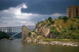New York, Manhattan, view of Henry Hudson Bridge over Harlem River