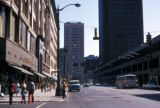 Buffalo, street scene in central business district
