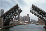 Chicago, drawbridge on Chicago River