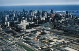 Chicago, view of downtown buildings looking northeast toward Lake Michigan