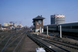 New York, Queens, view of Long Island Rail Road yard