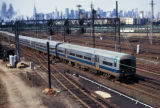 New York, Queens, Long Island Rail Road train from Sunnyside Yards