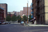New York, Bronx, street scene from St. Paul's Place in Morrisania